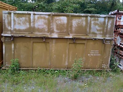 """Aluminum Storage Container With Cover 120"""" X 72"""" X 69"""""""