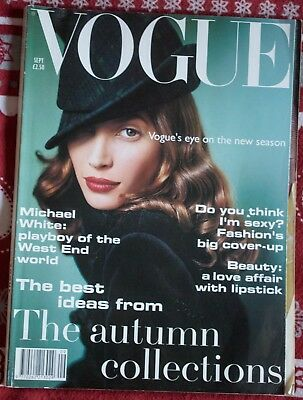Vogue Magazine September 1993. Vintage Magazine.