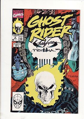 1990 Marvel Comics Ghost Rider Vol.2 #6 Signed X2 By Inker Mark Texeira Punisher