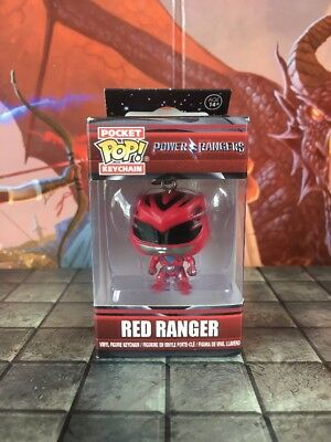 Funko Pocket Pop: Power Rangers Keychain red pink blue black yellow mighty morph