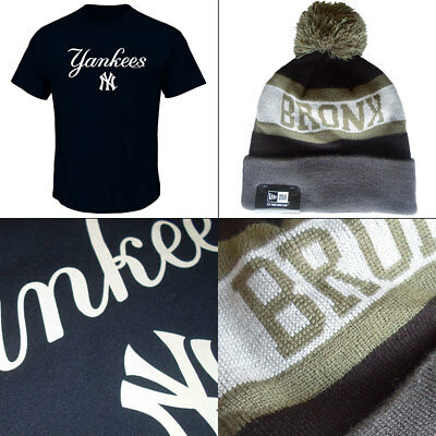 New York Yankees Series Sweep Officially Licenced MLB T shirt + Bronx Knit Hat