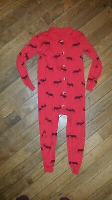 Boys Pajamas One Pc Sz 3T Bass Pro Shops Red Reindeer Christmas