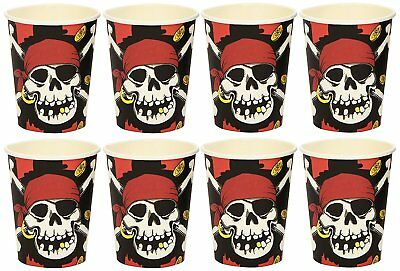 Amscan 250Ml Paper Cups Jolly Roger