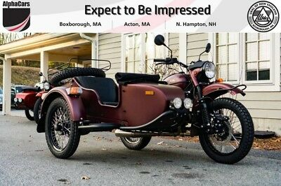 2018 Ural Gear Up 2WD Burgundy Satin Modern  Brand New Powder Coated Engine Financing & Trades