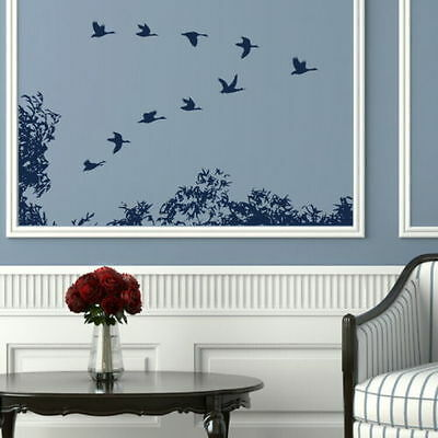 Flock Of Birds Wall Sticker Removable Vinyl Decal Bird Wall Transfers Bi10