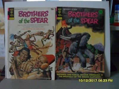 2 Brothers Of The Srear Comics Nos 2 And 9 Gold Key Date 1972/74 -  V/ Fine