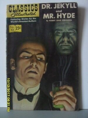 Classics Illustrated Comic  - Dr Jekyll And Mr Hyde No.13   1969  V Good -
