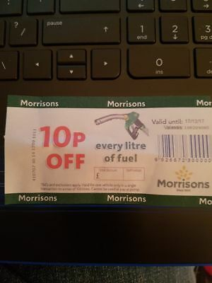 Morrisons Fuel Voucher. 10p Off Every Litre. Upto £10 Off.