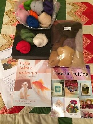 BUNDLE Needle Felting New Books and New Material and New Work Foam Brick. Crafts