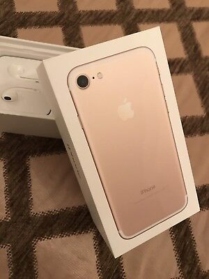 Gold iPhone 7 Box With New Headphones. Perfect Condition For Gift