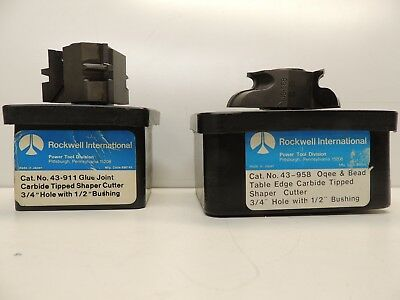 Two Rockwell,  Delta  Carbide Tipped Shaper Cutters