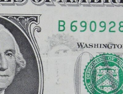 $1 1995 Partial Overprint Offset Error Federal Reserve Note B69092839X FREE SHIP