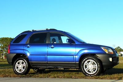 2005 Kia Sportage EX 4x4 Carfax Certified V6 No Accidents mart Blue Beauty~Leather~Sunroof~None Nicer~Loaded SUV~Ready~rav4 santa fe