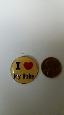 I Heart (Love) My Baby Hat Tac - Tie Tac - Lapel Pin