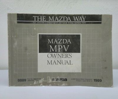 1989 mazda 323 owner s manual and pouch fo929 vqhr7i 26 24 picclick rh picclick com mazda owners manual usa mazda user manuals online