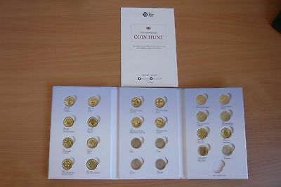 ONE POUND British Coin Hunt  Album From The Royal Mint - COINS NOT INCLUDED