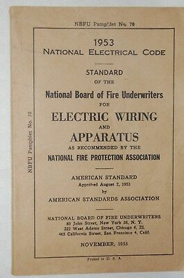 Vintage  1953 National Electrical Code Standard
