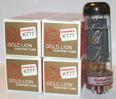 Matched Quad Genalex Gold Lion KT77 tubes, Reissue, BRAND NEW in Box