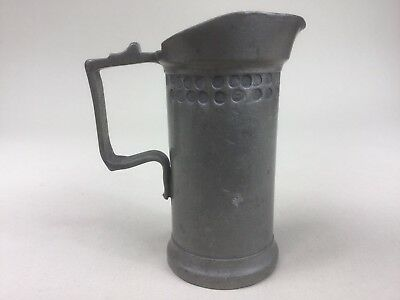 19th C. Small Dutch or Flemish Pewter Measure - Marked I.V.E. - 1 Deciliter