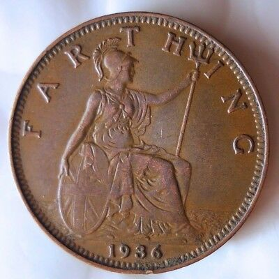1936 GREAT BRITAIN FARTHING - Collectible Coin - FREE SHIPPING - BIN #GGG