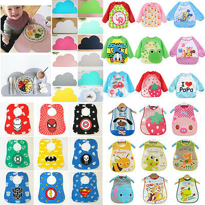Cute Baby Kids Cartoon Feeding Bibs Saliva Towel Table Mat Coaster Waterproof