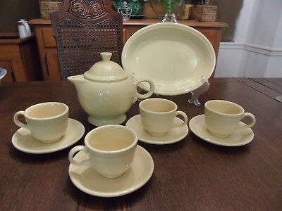 Vintage Fiesta Ware Homer Laughlin Pale Yellow Lot