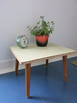 Vintage 50's Mid Century Plywood Formica Topped Plant/Coffee Table