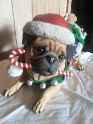 Collectible by The Danbury Mint Christmas Pug