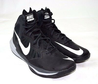 Nike Prime Hype DF Men's Black Basketball Shoes #683705-002 - Size 9.5 US