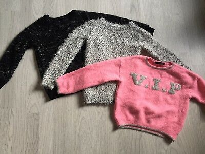 Girls Clothes Bundle Winter Wooly Jumpers  Age 6-7-8 Years George