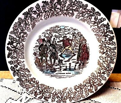 Beautiful Vintage (Dickens Series 4 Dinner & 4 B & B Plates) Staffordshire