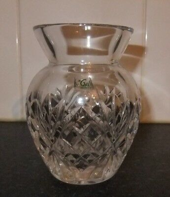 """Galway Crystal  Vase, Excellent Condition. 4"""" tall."""