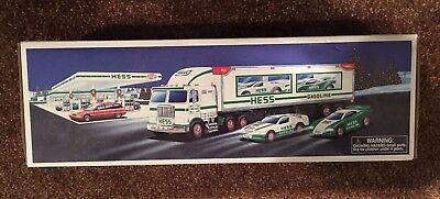 1997 Hess Toy Truck And Race Cars. New In Box.