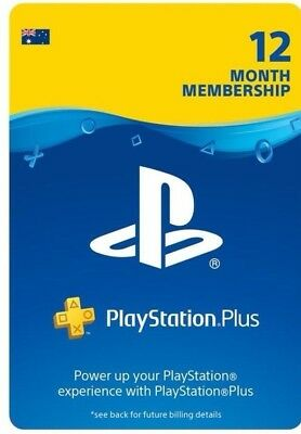 PlayStation PS Plus Australia One Year Subscription/Membership Voucher Code