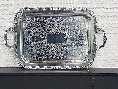 Large Vintage Silverplated Serving Tray