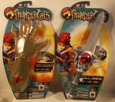 ThunderCats Deluxe Sword Of Omens + Lion-O Claw Shield With Lights & Sounds MOC