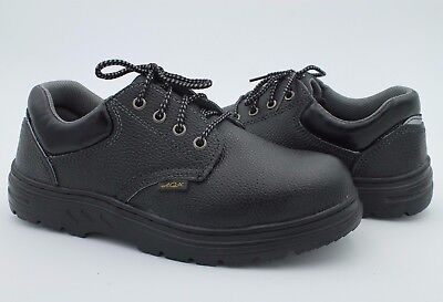 Men Working Safety Black Faux Leather Size 9