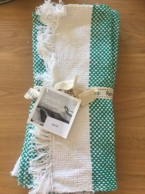 Placemat - Fabric (green and white pattern)