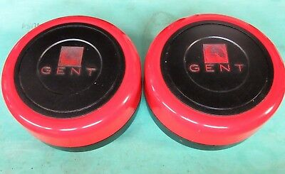 """2 X GENT SMOKE FIRE ALARM ELECTRONIC RED BELL 6"""" INCH 24v DC ."""