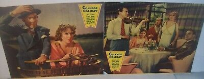 1936 'COLLEGE HOLIDAY'  2 Jumbo Lobby Cards Jack Benny George Burns Gracie Allen
