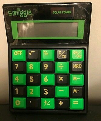 Smiggle Green neon keyboard calculator- new