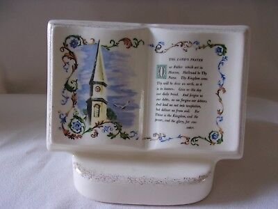 Royal Windsor Book of Remembrance Lord's Prayer Church Steeple Planter Vase