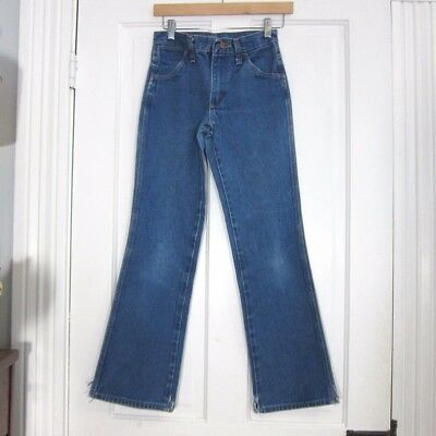 Vintage Wrangler Boys Jeans 27 x 30 Boot Cut Straight Leg 70s 80s Costume Cowboy