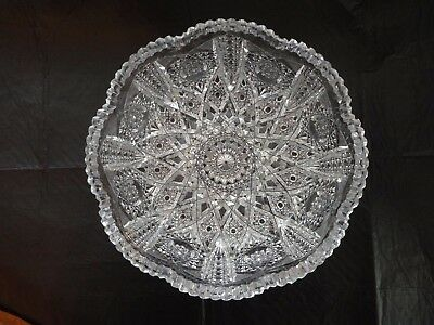 Fine American Brilliant period Cut Glass Bowl 8""