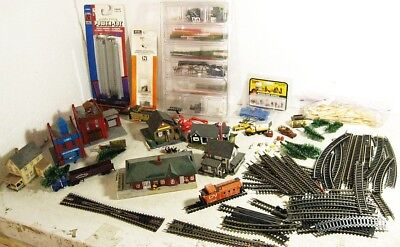 N Scale Switch Xover Built Buildings, Trees Trucks Cars etc .......Scroll Down
