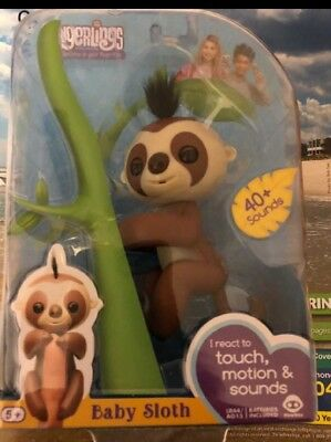 New AUTHENTIC  WowWee  Fingerlings interactive Baby Sloth name Kingsley