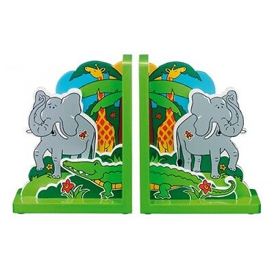 Children's wooden fairtrade bookends-Elephant