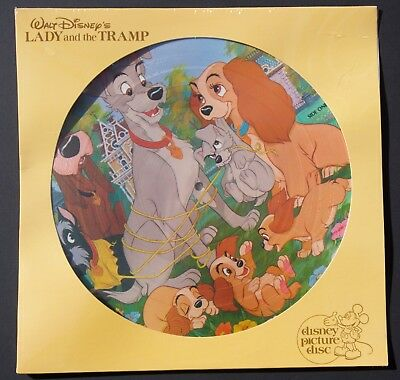 Walt Disney's Lady and the Tramp Vinyl Picture Disc  1980  mint sealed