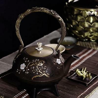 Iron Teapot Kettle pot Tetsubin Kettle Infuser Filter  Plum Flower 1.4L 1.7KG **