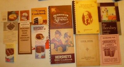 Vintage  Lot (14 Items) Hershey's Chocolate Recipe Books & Pamphlets 1930 - 1985